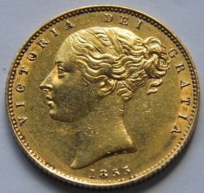 1855 Sovereign High Grade