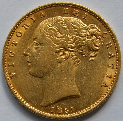 1851 Gold Sovereign High Grade