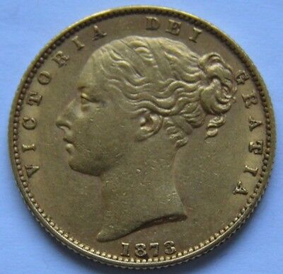 1873S Gold Sovereign Very High Grade
