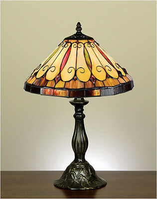Leadlight Stained Glass Handcrafted Lamp FELICE STYLE Table Bedside Desk