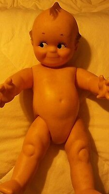 Large Kewpie Baby Cameo Doll Rubber Vintage Rare