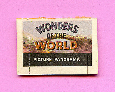 Vintage CRACKER JACK 1960s PANORAMA card book WONDERS of the WORLD unassembled
