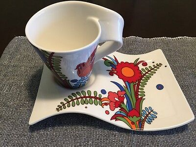Villeroy And Boch White With Floral Design Cup And Saucer New Wave