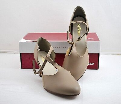 New w/ box NIB CH 56 M So Danca T Strap, Character Shoes Tan Size US 7.5L 1117
