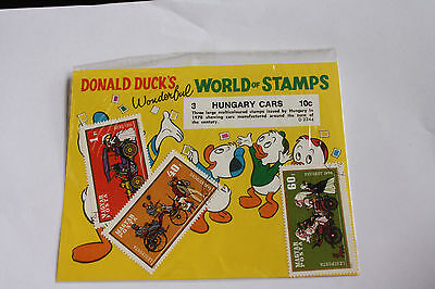 HUNGARY STAMP PACK DONALD DUCK'S HUNGARY CARS USED #sp116
