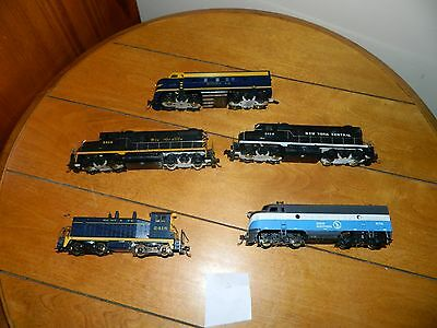 Vintage Ho Scale Lot Of 5 Train Engines