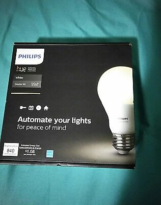 Philips 455287 Hue White Starter Kit 2 Bulbs and 1 Bridge Works with Amazon A...