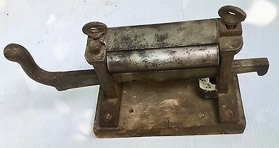 Antique Leather Splitter Tool on Wood Base