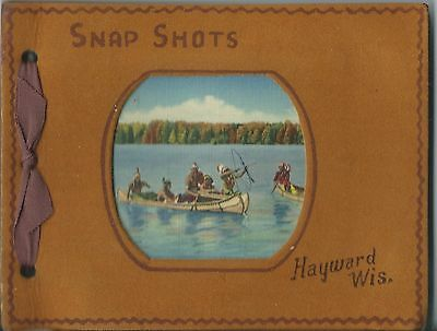 Unused Snap Shots Picture Album From Hayward Wisconsin Faux Leather 1910-20