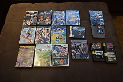 Video Game lot.  18 Games.  Nes, DS, Gamecube, Wii, Genesis, PS3