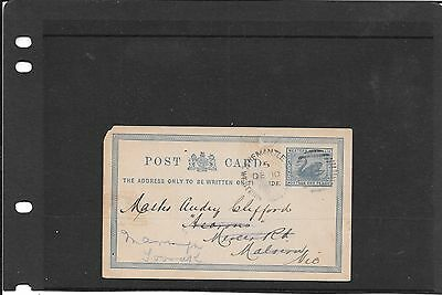 Western Australia  old post card fremantle - vic used 1896 nice