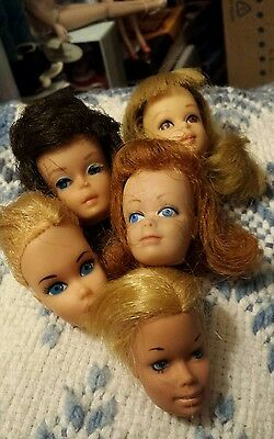Vintage Barbie,francie Dollheads Lot-Tlc