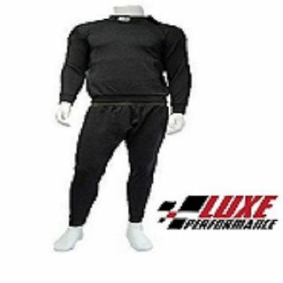 Black X Large SFI APPROVED Black NOMEX Race Under wear / Under Garment set
