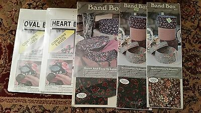 5 Lot of Band Box Kits Regency Mills Les Fleurs Oval Heart Small and Large Round