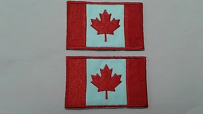 2 Pcs. New With Defect Canadian Flag Emb. Patches Sew/iron On