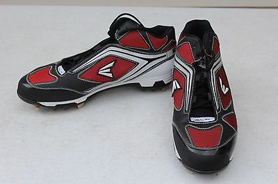 c68895a8e3c NEW Easton Phantom MD Team Men s Baseball Black Red Metal Cleats Spikes US  13 48