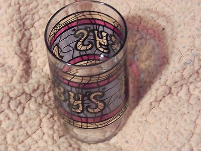 Arby's Fast Food Restaurant (Vtg) Stained Glass Tumbler ~ Retro USA Promo