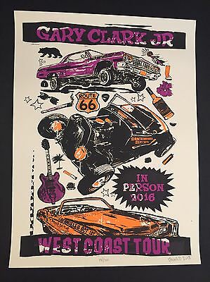 Gary clark Jr Tour poster West Coast LA Greek SF SB Bowl Print 2016 Austin Hall
