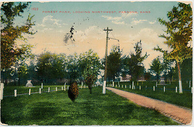 PARSONS KS - Forest Park looking Northwest - 1911