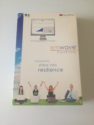 Heartmath emWave stress relief system software, heart rate monitor