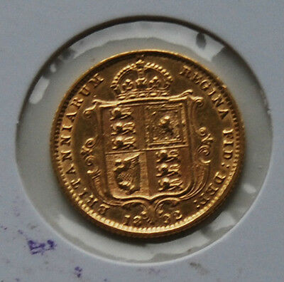 1892 Jubilee Head Shield Half Sovereign Coin