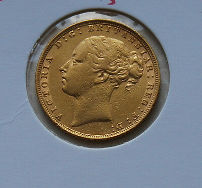 1884 Young Head St George Sovereign Coin
