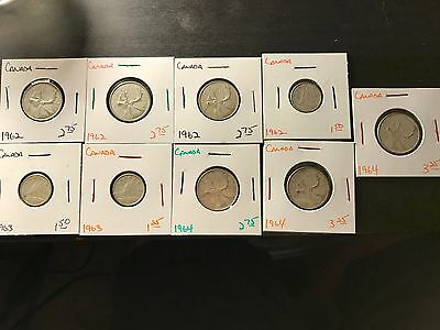 9 Silver Coins from Canada!!! 1.08 ounces of Silver!!!