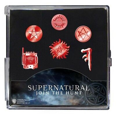 SDCC 2017 Exclusive Cinequest Supernatural 6 pieces pewter pin set PRESELL
