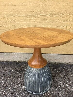 John Van Koert Table Ceramic Base Mid Century Modern Eames Danish Drexel