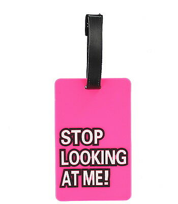 Luggage Tag Humorous Funny 'Stop Looking At Me' Holiday Baggage Label