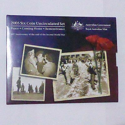 2005 Royal Australian Mint UNC Coin Set ** With The Special Release Coins **