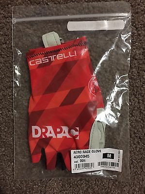 DRAPAC TEAM AERO GLOVES MEDIUM CASTELLI NEW cycling road