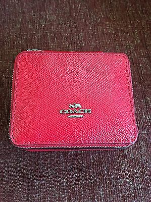 NWT Coach Travel Jewelry Case/Box Red