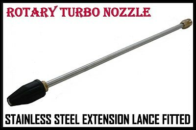 ROTARY TURBO NOZZLE, Brass Head, 595mm Lance, 5.5 to 15-hp =CONFIRM SIZE LATER