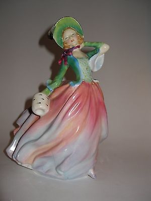"""Royal Doulton Figurine # HN 1911 """"Autumn Breezes"""" in Pink/Green A/F"""