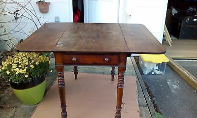 Mahogany Pembroke Table with Cutlery Drawer on one End