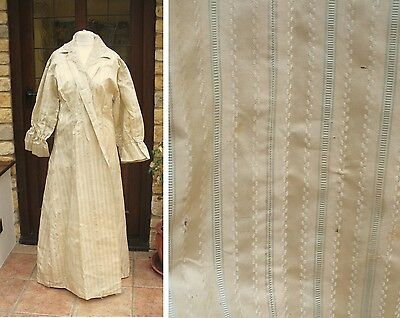Gorgeous Georgian Regency silk fabric altered into wrapper dressing gown