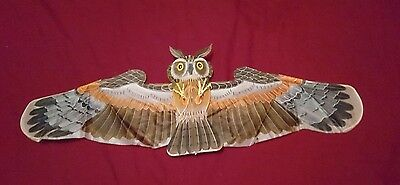 Small 3D chinese bamboo OWL Kite 64 cm wingspan