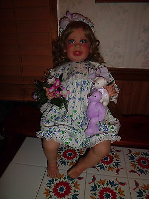 "Fayzah Spanos ""Baby Mae"" 25"" tall vinyl doll heirloom collection"