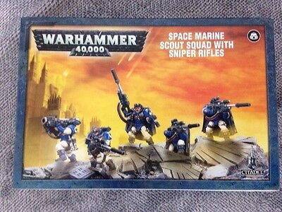 Warhammer 40K Space Marine Scout Squad With Sniper Rifles