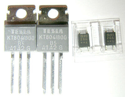 5 pcs S2S4 optototriac (with ZC) + KT804 triac 10A 800V (same as BTA10-800B)
