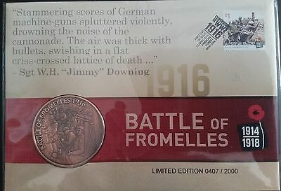 Australia - 2016 - Battle of Fromelles Medallion PNC/FDC - Limited Edition