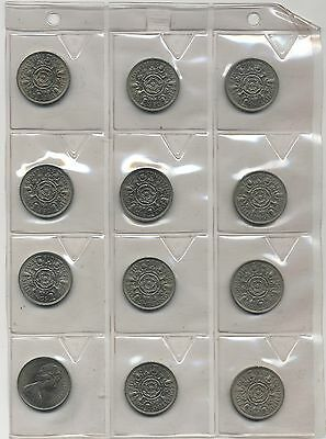 1957-1967 Elizabeth II Two Shilling Coins Date Run***Collectors***High Grades***