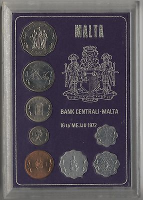 1972 Malta Cased Uncirculated Coin Set***Collectors***