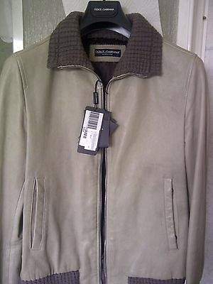 Giacca Dolce & Gabbana Leather Bomber Jacket! Giubbotto Pelle 100% New With Tag!