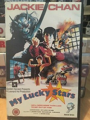Rare My Lucky Stars Jackie Chan VHS. ex Rental Big Box Video.