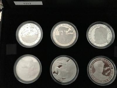 2015 Rare Silver proof WW1 100 years 6 x 5 pound coins commemorative set