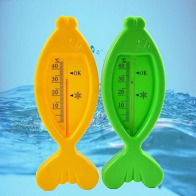 Floating Lovely Fish Baby Water Thermometer Plastic Float Bath Toy Tub Sensor