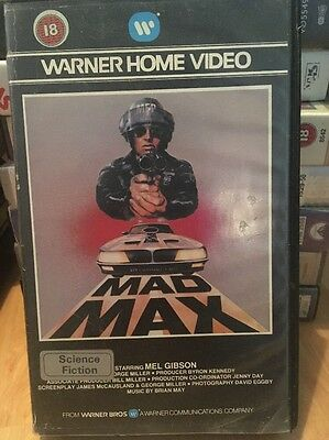 Rare Mad Max. Warner VHS. ex Rental Big Box Video. Pre Cert. Mel Gibson