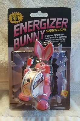 Rare Vintage Energizer Bunny Squeeze Light Toy Advertising 1990, 1991